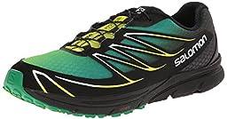 Salomon Men\'s Sense Mantra 3 Running Shoe, Fern Green/Black/Gecko Green, 10 M US