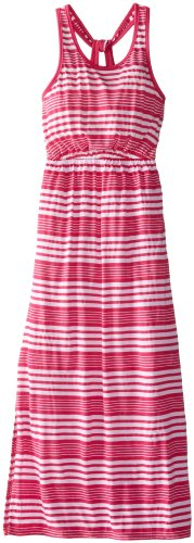 Splendid Big Girls' Variegated Stripe Maxi Dress, Dark Pink, 7-8 front-905882