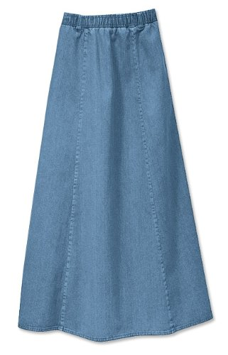 Vintage Denim Pull-on Skirt / Regular, Chambray, Small