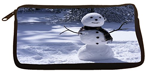 Cute Pencil Case Snowman Pen Bag (Snowman Make Up)