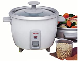 Amazon.com: Aroma ARC7031G 6-Cup Rice Cooker and Food