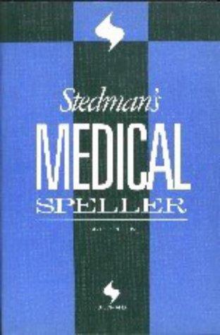 Stedman's Medical Speller Words (Stedman's Word Books)
