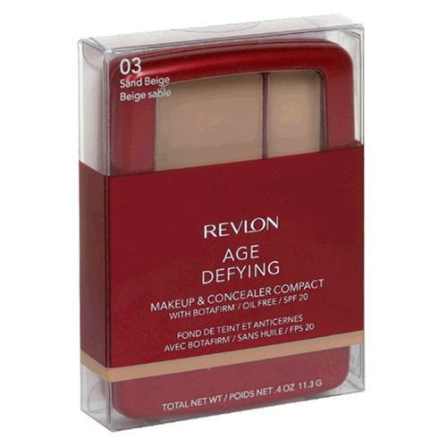 Buy Revlon Age Defying Makeup & Concealer Compact with Botafirm, SPF 20, Sand Beige 03, 0.4 oz (11.3 g) (Pack of 2)