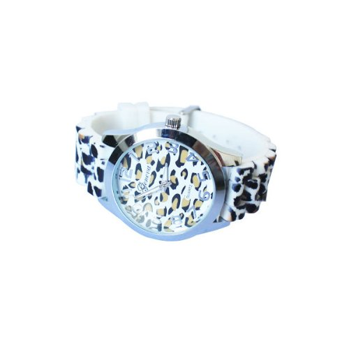 Sany58520 Trendy Sexy Wild Lady Leopard Print Fashion Silicone Jelly Quartz Wrist Watch