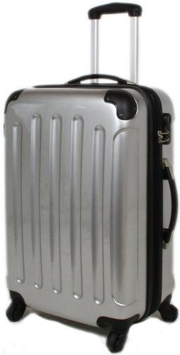 SILBER Reisekoffer Koffer Trolley Trolleys Hartschale