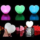 PK Green 3er Set LED-Stimmungslichter Lampen mit Farbwechsel - Herz