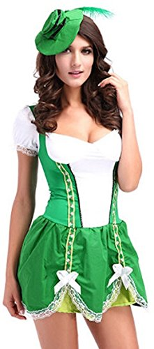 St. Patrick's Day Sexy Irish Beer Costume Fancy Dress Outfit