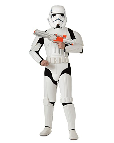 Adult's Deluxe Star Wars Storm Trooper Costume And Blaster Bundle