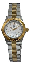 TAG Heuer Women s WAF1424 BB0825 Aquaracer 27mm 18k Yellow Gold Mother-of-Pearl Dial Watch