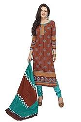 RK Fashion Womens Cotton Un-Stitched Salwar Suit Dupatta Material ( SANDHYA-PAYAL-2034-Orange-Free Size )