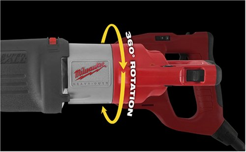 Milwaukee 6523-21 Super Sawzall 13 Amp Reciprocating Saw with Rotating Handle