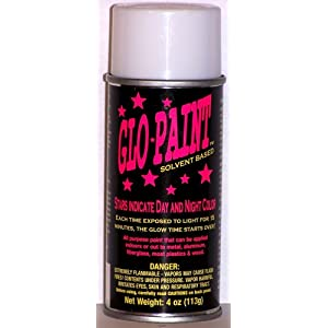 color glow in the dark 4oz aerosol can glow in the dark spray. Black Bedroom Furniture Sets. Home Design Ideas