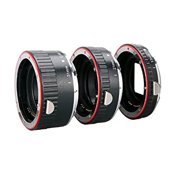 36 mm 21 mm per Canon EOS 1000D 550D 500D 600D 450D 400D 350D 300D 60D 50D 40D 30D 20D 10D 7D 5D 5D Mark II 1D 1Ds 1D Mark II 1Ds Mark II 1D Mark I Kaavie Tubo di prolunga automatico per Canon EOS EF//AF Set di tre tubi di prolunga Auto Focus: 13 mm