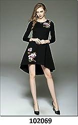 SAI Fashion Women Balck Dress Cotton