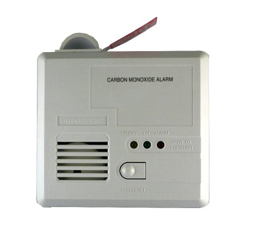 Universal Security Instruments CD-9590 3-LED Plug-in Carbon Monoxide Alarm with Battery Backup/Drawer