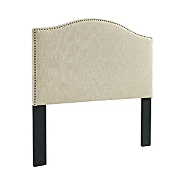 Pulaski Selma Camel Back Linen Panel Headboard, King / Cal King