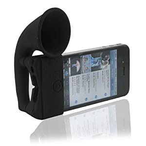 Iphone 4 Natural Sound amplifying Speaker Stand Black