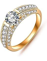 Jewels Galaxy Luxuria Hot Selling Gold Plated AAA Cubic Zircon Women Wedding Jewellery Rings