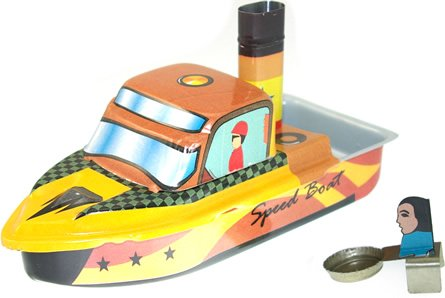 Pop Pop Speed Boat tin toy collectable