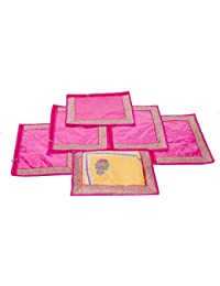 Kuber Industries Single Packing Saree Cover Set Of 6 Pcs (Designer Lace) - B01H97XLP2