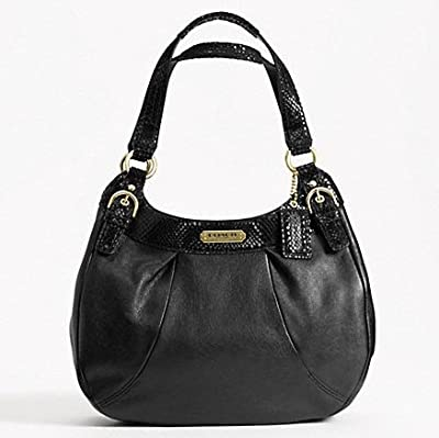 Coach Soho Leather Hobo Black Bag F19453