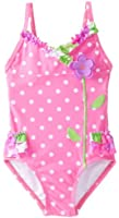 Hartstrings Little Girls'    Dot and Floral One Piece Swimsuit