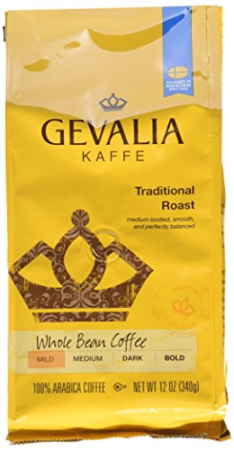 Gevalia Roast and Ground Whole Bean Coffee, Traditional Blend, 12 Ounce (Pack of 6) (Coffee Gevalia Whole Bean compare prices)