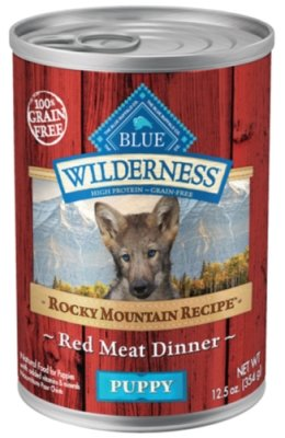 Blue Buffalo Wilderness Rocky Mountain Puppy Red Meat Grain Free Food, 12 by 12.5 oz. (Blue Buffalo Canned Puppy Food compare prices)