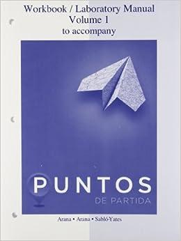 Amazon.com: Workbook/laboratory manual to accompany Puntos de Partida
