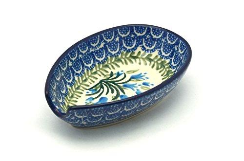Polish Pottery Spoon Rest - Blue Bells polish pottery spoon rest blue bells
