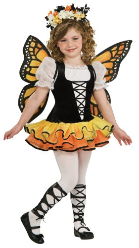 Monarch Butterfly Child Costume Size Large 12-14