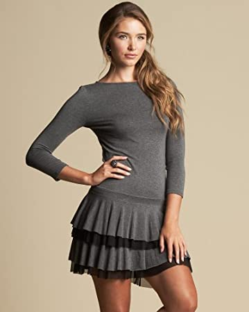 bebe Tiered Skirt Jersey Dress