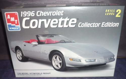 #8031 AMT /Ertl 1996 Chevrolet Corvette Collector Edition 1/25 Scale Plastic Model Kit,Needs Assembly