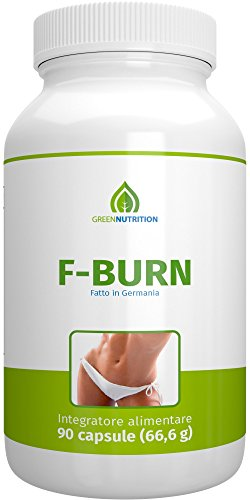 Green Nutrition - F-Burn - 90 capsule - 100% Naturale - Estratto di Guaranà - Caffè Verde - Vitamine B6 & B12 - Confezione singola