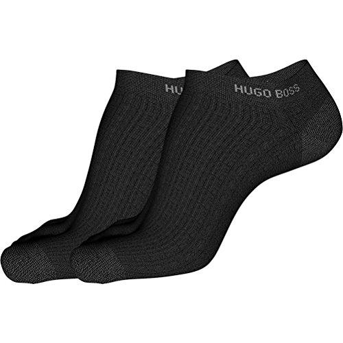 HUGO BOSS 6P Herren Sneaker Socken Farbe 001 schwarz 39-42 einfarbig uni Baumwolle mit Elasthan thumbnail