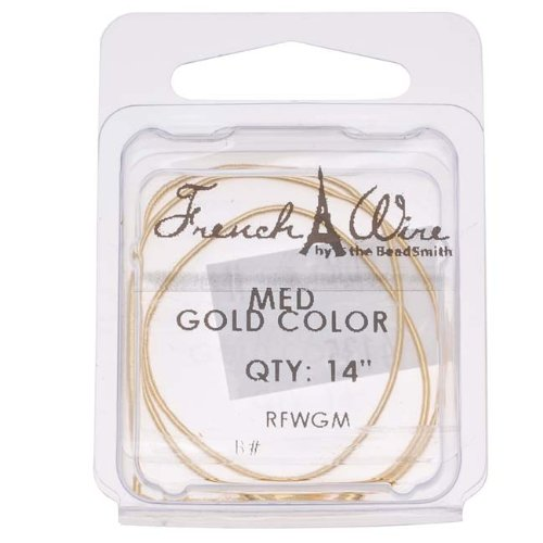 Gold Color French Wire - Medium .9 14 In