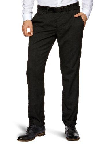 J.C. Rags Woven 3211190 Slim Men's Trousers Black W28 INxL34 IN