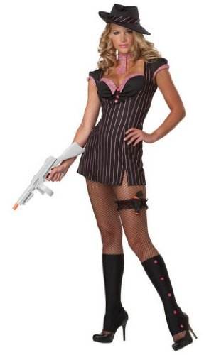 Womens Gangster Moll Hallowee Costume