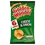 Golden Wonder Cheese And Onion Crisps 6 Pack 150g
