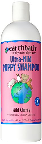 Earthbath All Natural Puppy Shampoo, Tearless and Extra Gentle 16-Ounce(wild cherry flavor)
