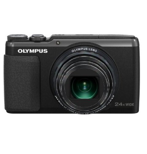 Olympus Stylus SH-50 iHS Digital Camera with 24x Optical Zoom and 3-Inch LCD (Black)