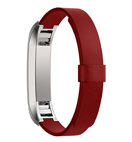 tonsee-band-fur-fitbit-alta-trackerluxus-echtes-leder-armband-rot