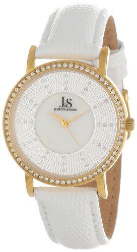 Joshua Sons Femme JS-42-YG Swiss Quartz Acier Inoxydable Cristaux Montre Bracelet