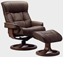 Hot Sale Fjords 775 Bergen Large Leather Recliner Norwegian Ergonomic Scandinavian Lounge Reclining Chair Furniture Nordic Line Genuine Cappuccino Leather Teak Wood