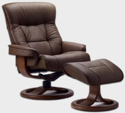 Fjords 775 bergen large leather recliner norwegian ergonomic scandinavian lounge reclining chair - Scandinavian chair ...
