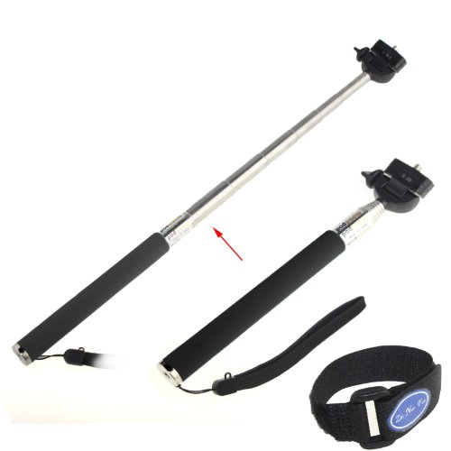 Yaho-Mall Telescoping Extension Pole W/ Tripod Mount Telescoping Pole / Handheld Monopod For Gopro Hero 1/ 2/ 3