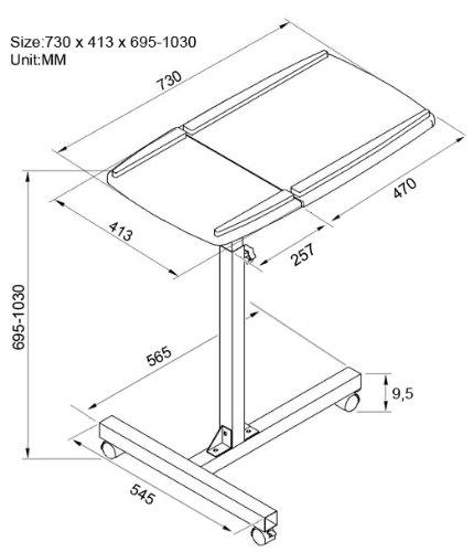 SixBros. Tavolino porta pc notebook nero - LT-001A/52