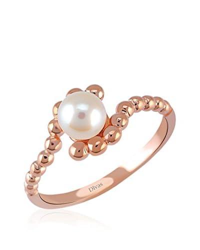 Divas Diamond Anello Old Fashion Pearl [Rosé]