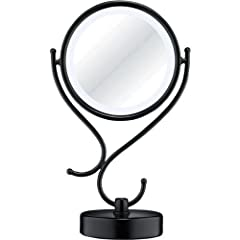 Conair Reflections Home Vanity Fluorescent Collection Mirror , Matte Black Finish