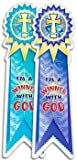 I'm a Winner with God Ribbon Award Stickers (0742412547) by Celebration